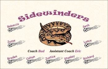 Sidewinders Soccer Banner - Custom SidewindersSoccer Banner