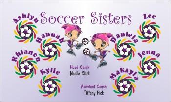 Sisters Soccer Banner - Custom Sisters Soccer Banner