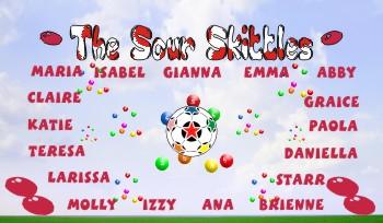 Skittles Soccer Banner - Custom SkittlesSoccer Banner