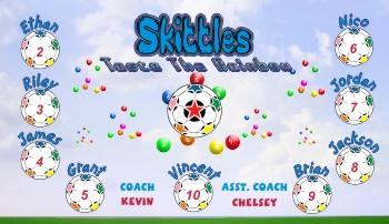Skittles Soccer Banner - Custom Skittles Soccer Banner