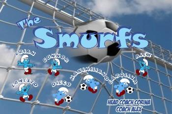Smurfs Soccer Banner - Custom SmurfsSoccer Banner