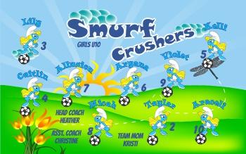 Smurfs Soccer Banner - Custom Smurfs Soccer Banner
