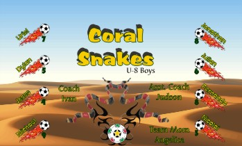 Snakes Soccer Banner - Custom SnakesSoccer Banner
