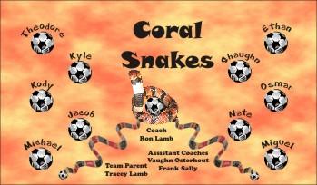 Snakes Soccer Banner - Custom Snakes Soccer Banner