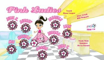 Pink Ladies Soccer Banner - Custom Miscellaneous Soccer Banner