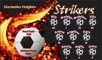 Strikers Soccer Banner - Custom Miscellaneous Soccer Banner