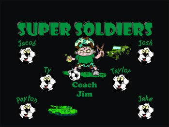 Soldiers Soccer Banner - Custom Soldiers Soccer Banner