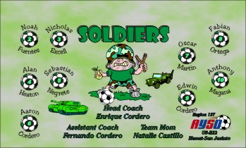 Soldiers Soccer Banner - Custom SoldiersSoccer Banner
