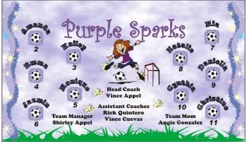 Sparks Soccer Banner - Custom Sparks Soccer Banner