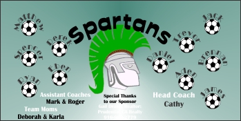 Spartans Soccer Banner - Custom SpartansSoccer Banner