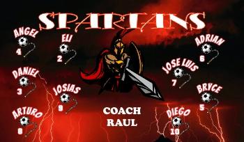 Spartans Soccer Banner - Custom Spartans Soccer Banner