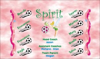 Spirits Soccer Banner - Custom SpiritsSoccer Banner