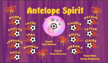 Spirits Soccer Banner - Custom Spirits Soccer Banner