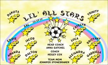 Stars Soccer Banner - Custom Stars Soccer Banner