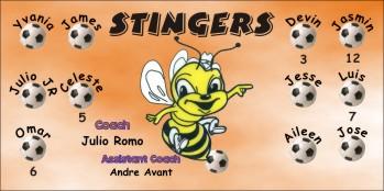 Stingers Soccer Banner - Custom StingersSoccer Banner