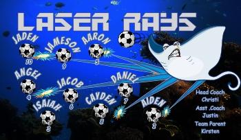 Stingrays Soccer Banner - Custom Stingrays Soccer Banner