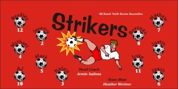 Strikers Soccer Banner - Custom StrikersSoccer Banner