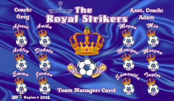 Strikers Soccer Banner - Custom Strikers Soccer Banner