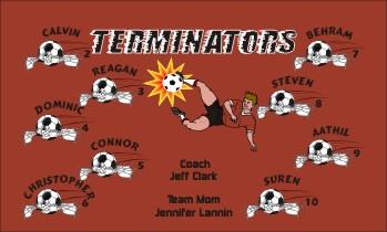 Terminators Soccer Banner - Custom Terminators Soccer Banner