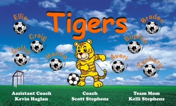 Tigers Soccer Banner - Custom TigersSoccer Banner