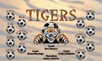 Tigers Soccer Banner - Custom Tigers Soccer Banner