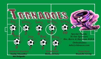 Tornados Soccer Banner - Custom TornadosSoccer Banner