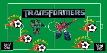 Transformers Soccer Banner - Custom TransformersSoccer Banner
