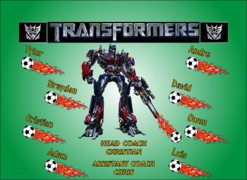 Transformers Soccer Banner - Custom Transformers Soccer Banner