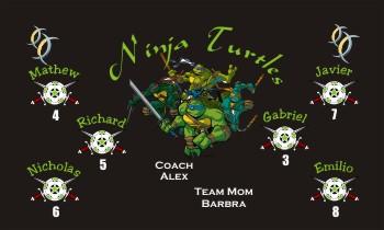 Turtles Soccer Banner - Custom TurtlesSoccer Banner