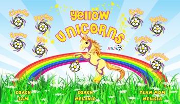 Unicorns Soccer Banner - Custom UnicornsSoccer Banner