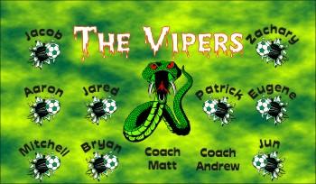 Vipers Soccer Banner - Custom VipersSoccer Banner