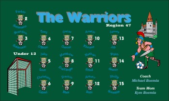 Warriors Soccer Banner - Custom WarriorsSoccer Banner