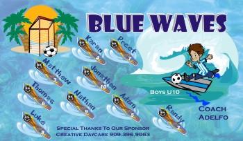 Waves Soccer Banner - Custom WavesSoccer Banner