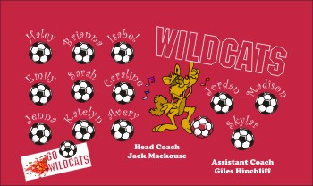 Wildcats Soccer Banner - Custom Wildcats Soccer Banner