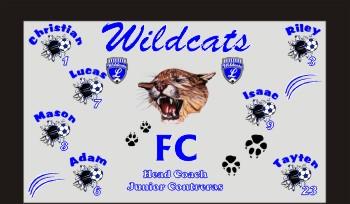 Wildcats Soccer Banner - Custom WildcatsSoccer Banner