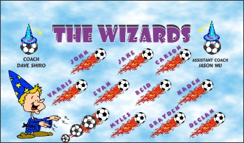 Wizards Soccer Banner - Custom Wizards Soccer Banner