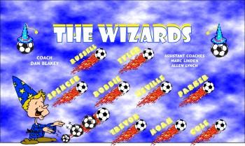 Wizards Soccer Banner - Custom WizardsSoccer Banner