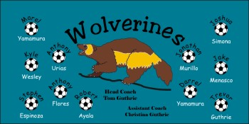 Wolverines Soccer Banner - Custom WolverinesSoccer Banner