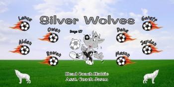 Wolves Soccer Banner - Custom Wolves Soccer Banner