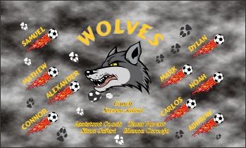 Wolves Soccer Banner - Custom WolvesSoccer Banner
