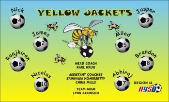 Yellow Jackets Soccer Banner - Custom Yellow Jackets Soccer Banner