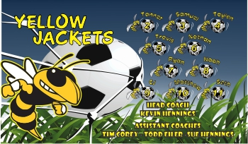 Yellow Jackets Soccer Banner - Custom Yellow JacketsSoccer Banner