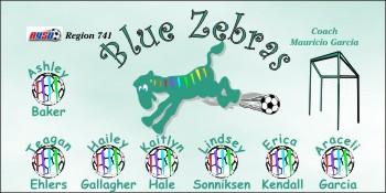 Zebras Soccer Banner - Custom Zebras Soccer Banner