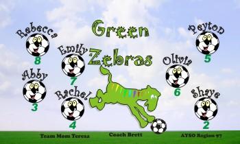 Zebras Soccer Banner - Custom ZebrasSoccer Banner