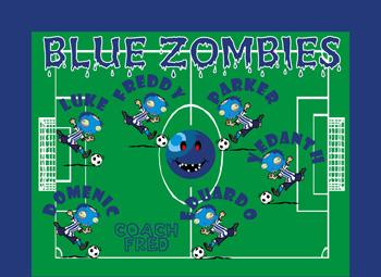Zombies Soccer Banner - Custom ZombiesSoccer Banner