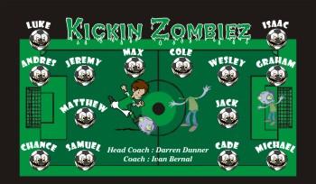 Zombies Soccer Banner - Custom Zombies Soccer Banner