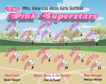 Miscellaneous Team Name Softball Banner - Custom Miscellaneous Team Name Softball Banner
