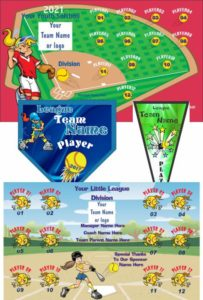 Teamsbanner Rapid Order Softball Banners