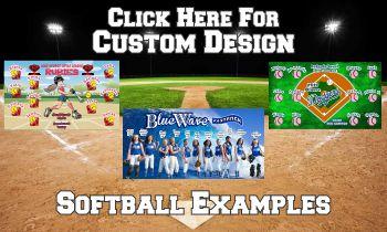 Custom Design Softball Banners - Teamsbanner