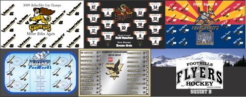 custom hockey design banner